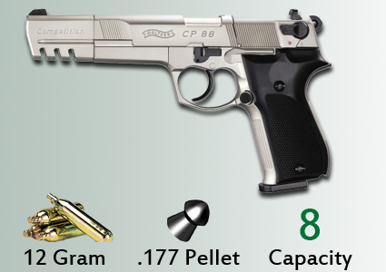 Umarex Walther CP88 Competition Nickel CO2 pistol